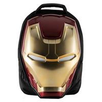 mochilas de maravilla al por mayor-Rosa sugao Marvel Heroes Iron Man Luminous Backpack diseñador mochila bolsas hombres mochila monederos alta calidad impresión 3D moda bolsos nuevo estilo
