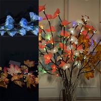 conduziu ramos iluminados venda por atacado-LED Luzes Coloridas Ins Simulado Ramo Bateria Caixa Lâmpada Colorida Decoração Interior Lâmpadas de Flores Artificiais Venda Quente 12 5 wc L1