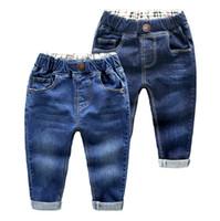 harem kot çocukları toptan satış-Erkek Jeans Tasarımcı Çocuklar Denim Pantolon Casual Erkek Bebek Denim Pantolon Bebek Boy Pantolon Kot Bebek Bebek Giyim DW4432