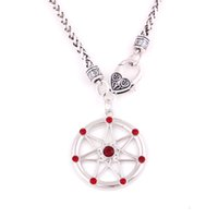 weizenanhänger großhandel-Faery Star Elven Kristall Anhänger Feen Elf Magisches Amulett Religiöse Weizen Kette Halskette