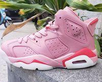 zapatos de baloncesto talla 5.5 8.5 al por mayor-Con caja 6 Vi rosa blanco bajo gs Zapatillas de baloncesto mujer Deportes Zapatillas deportivas talla 5.5-8.5
