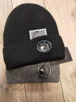 bonnets crâne noir achat en gros de-CP COMPANY beanies hommes automne hiver bonnets crâne épais tricotés sports de plein air chapeaux femme beanies noir gris