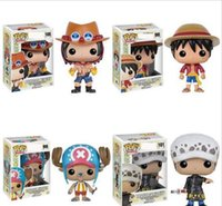 Wholesale anime figure box resale online - New styles Funko POP Anime One Piece trafalgar law Vinyl Action Figure With Box Popular Toy Gify