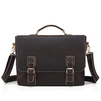 Wholesale quality canvas briefcases for sale - Group buy Men s briefcase Cowhide leather backpack more pocket Top quality purse Designer Handbags portable genuine leather travel Bags