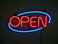 sinal aberto de néon frete grátis venda por atacado-500mm * 250mm ABERTA Noite Bar Pub Neon Light Sign Decor Frete Grátis Dropshipping Atacado
