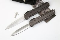 Wholesale customs knives for sale - Group buy Custom Munroe MK7 D2 Blade Double Action Tactical Automatic Knife Aluminum Handle Styles Survival EDC Camping Knives J21M F