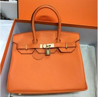 Wholesale bag brands real leather for sale - Group buy 35CM CM CM Famous Brand H Totes bags women Genuine leather Bags Fashion lady Handbag Factory In Stock Real Image22