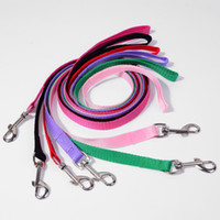 Wholesale 500pcs Width cm Long cm Nylon Dog Leashes Pet Puppy Training Straps Black Blue Dogs Lead Rope Belt Leash