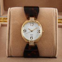 Wholesale sparkling chain resale online - Women Dress Watches Feminino Fashions Quartz Manual Chain Hawaiian Style Sparkling Lady Wristwatches Relojes Mujer Teel Bracelet Chain