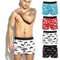 erkekler için gövde iç çamaşırı toptan satış-2019 Erkekler İç Giyim Boxer Şort Mens Sandıklar Pamuk İç Giyim Moda Tasarımı Man Ev pijamalar külotu
