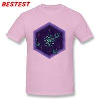 polvo roxo venda por atacado-Mens designer de marca de luxo t Camisas Geek Purple Tops T-shirt Hexagon Print Tee Camisa Octopus Amante Tshirt Tecido De Algodão de Alta Qualidade Único