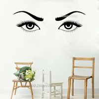 autocollants beaux yeux achat en gros de-Nouveautés Vinyl Stickers Muraux Beautiful Girls Sexy Eyes Femme Cils Sourcils Stickers muraux Vinilos Paredes amovible