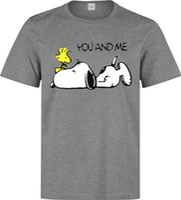 t-shirt snoopy achat en gros de-Haut t-shirt gris Snoopy Vous et Moi