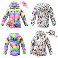 Wholesale zipper girls for sale - Group buy Surprise Girls Coat Summer Sun Protection Clothes Pieces Set Long Sleeve Hooded Jacket Crossbody Bag Bucket Hat Cap Cartoon Suit LJJA2680