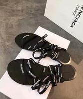 ingrosso sandali grandi fiore-2019 Designer brand Sandali Fashion Sandali da donna donna CON BOX fiore stampato rivetti unisex da spiaggia infradito pantofola grande taglia 41