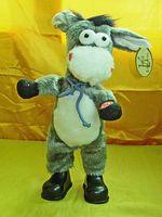 latas de baile al por mayor-Envío gratis, burro electrónico para mascotas, puede bailar, cantar sacudió la cabeza, burro eléctrico, burro de roca, juguete divertido para niños