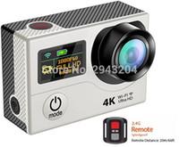 su geçirmez dijital video camcorder toptan satış-ELECTSHONG WIFI 4 k Ultra HD Eylem Video Kamera Çift Ekran Uzaktan Kamera DV selfie Dijital Video Kamera 30 m su geçirmez