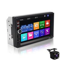 dvd mp4 bluetooth toptan satış-7 Inç 2 Din Bluetooth Araba Mp4 Mp5 Araba Radyo Video Oynatıcı Ayna Bağlantı Direksiyon Kontrolü Dikiz Kamera Opsiyonel