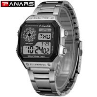 Wholesale wrist watch timer resale online - PANARS New Arrival Luminous Sport Watch Multifunction Men s Waterproof Wrist Watch Fitness Digital Alarm Timer Clock