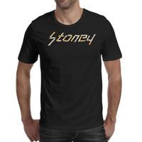 t beiträge großhandel-Geben Sie malone stoney Zigarettenlogoschwarzt-shirt, Hemden, T-Shirts bekannt, T-Shirts, die athletisches T-Shirt des Vintagen Superheldbandes drucken