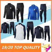 costumes d'entraînement achat en gros de-Survetement de football maillot de survet maillot de foot 2 etoile 201 2020 fr MBAPPE POGBA GRIEZMANN survetement de football