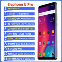телефон-автомат оптовых-Елефон у Pro сотовый телефон 5.99-дюймовый Android 8.0 процессор Qualcomm Snapdragon с частотой 660 6 ГБ оперативной памяти 128 Гб ROM 13MP двойной RearCam мобильный LTE 4G телефон