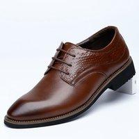bonne tenue achat en gros de-Belle Saison Hommes Chaussures En Cuir Véritable D'affaires Dress Hommes Mens Lac-Crocodile Motif Bout Pointu Chaussures Homme Bureau Oxford Chaussures
