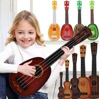 ingrosso strumenti di simulazione-Bambini Simulazione giocabile Ukulele Kids Musical Instrument Early Education Toy Mini Cartoon Guitar Fun Time LLA362
