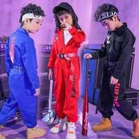 Wholesale baby girl hip hop clothes for sale - Group buy Zjht Teenager Girls Boys Rompers For Hip Hop Rocker B box Performance Children Clothing Baby Long Sleeve Sets Cotton Suits My077 Y190518