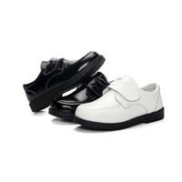 формальные кроссовки оптовых-Мальчики обувь из натуральной кожи дети свадьба выпускной черно-белый формальные кожаные ботинки дети кроссовки для мальчиков