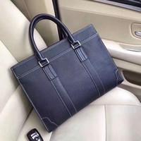 Wholesale luxury briefcases for sale - Group buy Designer Leather Briefcases Men Business Handbags soft flexible Lichee graincow leather Luxury Laptop Cases Multi pockets cm wide