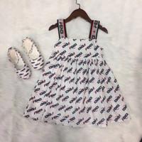 sonbahar portakal elbiseleri toptan satış-Bebek kız 2019 yaz elbise çocuklar parti elbise çocuk Parantez etek moda marka elbise prenses elbise ücretsiz kargo