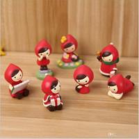 ingrosso giocattolo di guida dell'automobile-Lotto Kids Of Little Red Riding Hood Action Figure Giocattoli Regalo Topper Childern Room Car Ornament Promozione Regalo di Natale