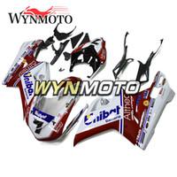 1199 verkleidungen großhandel-Weiß Rot Verkleidungen für Ducati 899 2012 2013 12 13 Karosserie-Kits Motorradrümpfe 1199 2012 2013 12 13 Karosserierahmen ABS-Kunststoff-Einspritzdeckel