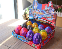 Wholesale free easter eggs resale online - 12PCS Dinosaur World Dinosaur Egg Deformed Ultraman Funny Easter eggs Help children explore unknown toys