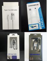 bolsas de embalaje de cable usb al por mayor-Paquete al por menor Cajas de bolsas Caja de embalaje para teléfono Tipo C Cargador micro USB Cable de datos Samsung Galaxy S4 S6 S8 S9 S10 Nota 9 8 7 6 Universal