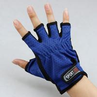 Wholesale cut glove fingers resale online - Half Finger Design Fishing Gloves Durable Anti Slip Anti Cut Sport Outdoor Fishing Gloves Breathable Wear resistant Fishing Gloves LJJZ539