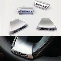 ingrosso loghi dell'auto per il volante-Per AMG Mercedes Benz W212 W211 W210 GLC GLA E200L Classe C / E Volante per auto LOGO AMG Emblema Adesivo per auto Edizione sportiva