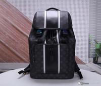 mochila de cuero al por mayor-Top brand Zack lovers mochila diseñador mujer Bolso de hombro Monogrram Eclipse mochila Unisex Rainbow Mochila de cuero genuino M43409