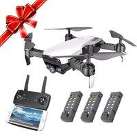 dronlar w kameralar toptan satış-Cooligg Quadcopter Drone 720 P HD Özçekim Kamera WiFi FPV Katlanabilir w / 3 Piller