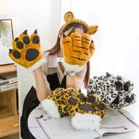 çocuklar için hayvan eldivenleri toptan satış-5 Stiller İmitasyon Hayvan Palmiye Eldiven Oyuncak Yaratıcı Çocuk Eldiven Peluş Oyun Prop Oyuncak Çocuk Hediye L615 25cm