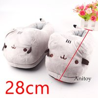 Wholesale cute anime slippers for sale - Cute Cat Animal Plush Toys Dolls Home House Winter Plush Slippers for Children Women Men Stuffed Toys Styles cm