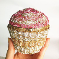 Wholesale new handmade clutches for sale - Group buy Custom new rhinestone cupcake bag evening bag banquet clutch Europe and the United States selling sisters handmade cake