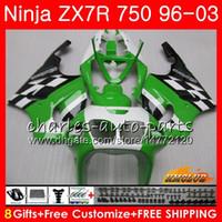 1997 ninja zx7r toptan satış-KAWASAKI NINJA ZX 7 R Için Zımparalar ZX 750 ZX750 ZX 7R ZX-750 28HC.4 ZX-7R stok yeşil sıcak ZX7R 1996 1997 1998 1999 2000 2001 2002 2003 Fairing