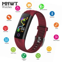 Wholesale smart bracelet oled online – MNWT Smart Bracelet Heart Rate Monitor Fitness Wristband OLED Screen Touch Screen Bluetooth Pedometer Waterproof SmartWatch