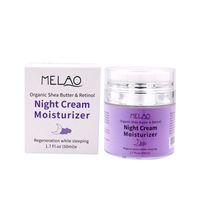 Wholesale hyaluronic cream resale online - High Quality Melao Night Cream g Organic Retinol Moisturizer Nourishing Night Cream Hyaluronic Night Retinol Cream