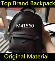 ingrosso zaini per bambini-Designer L Backpack M41560 Donna Palm Springs Mini BRAND zaino in vera pelle per bambini donna stampa in pelle Mini zaino