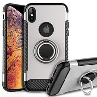 zırh çift katmanlı örtü toptan satış-Telefon Kılıfı Ağır Darbeye Dayanıklı Çift Katmanlı Sağlam Zırh Kılıfları Kapak Halka Tutucu Yeni iPhone 11XS MAX XR X 7/8