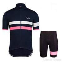 mtb ropa china al por mayor-NUEVA Rapha Cycling Jerseys Set Bike Mangas cortas Ropa de carreras de bicicletas Ropa de ciclismo mtb de verano para hombres ropa barata-china-E18