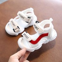 Wholesale patchwork kids sandals for sale - Group buy 2020 Toddler Sandals High Quality Kids Shoes Baby Boy Girl Patchwork Summer Beach Sport Soft Leather Sandals Shoes Sneakers